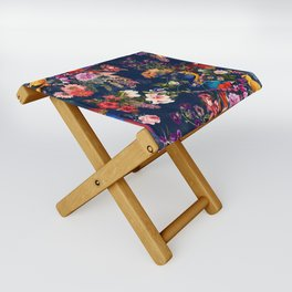FLORAL AND BIRDS XII Folding Stool