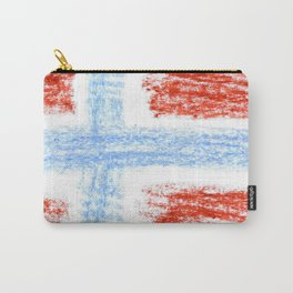 flag of norway 10 – Chalk version  snow,scandinavia,scandinavian,norwegian,oslo Carry-All Pouch