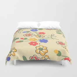 Fashion Textail Floral Print Design, Flower Allover Pattern Duvet Cover