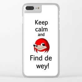 Find de way Clear iPhone Case