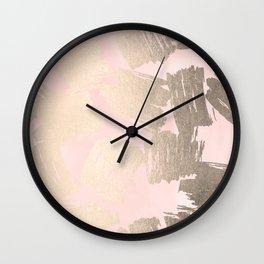 Modern Pink + Gold Wall Clock