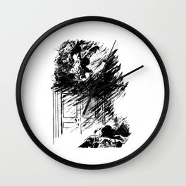 Edouard Manet - The raven by Poe 3 Wall Clock