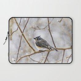 Snowy Titmouse Laptop Sleeve