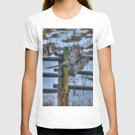 Dive, Dive, Dive! - Great Grey Owl Hunting T-shirt