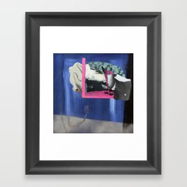 The building in the night Framed Art Print