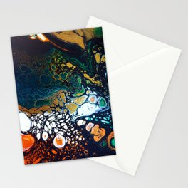 Malachite -- Abstract Painting Stationery Cards