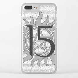 SPN Print (Grey) Clear iPhone Case