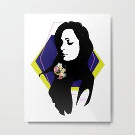 """""""Floral on my Sleeve"""" Metal Print"""
