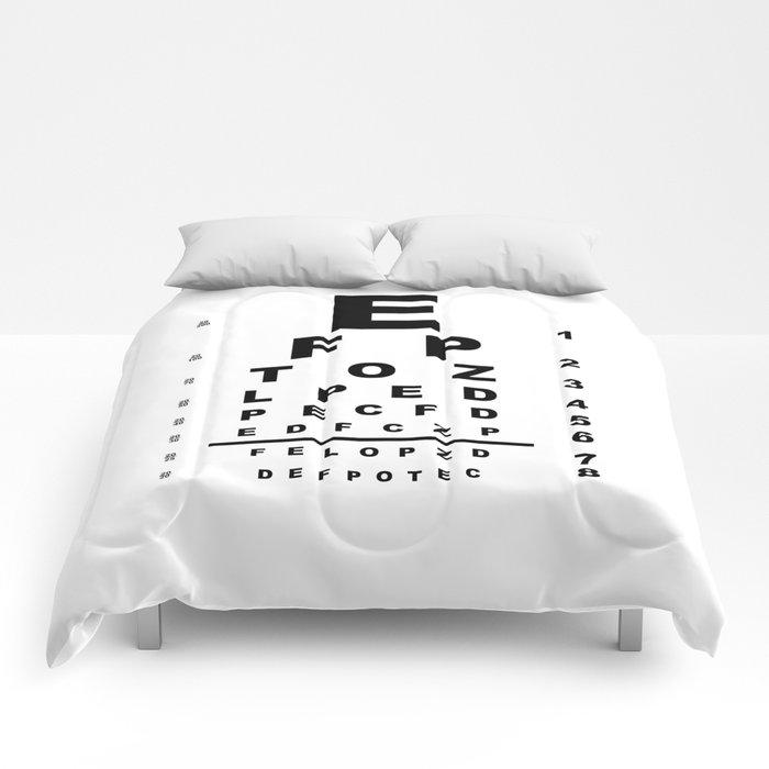 Eye Test Chart Comforters