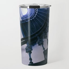 Spiral staircase in blue Travel Mug