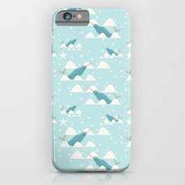 narwhal in ocean iPhone Case