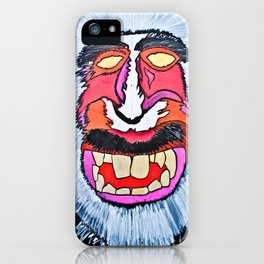 macaques monkey iPhone Case