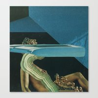 glitch Canvas Prints featuring Glitch by Jesse Treece