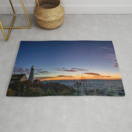Portland Maine Head Light Dawn Rug