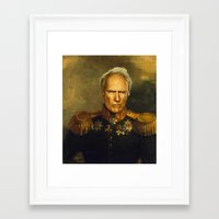 replaceface Framed Art Prints featuring Clint Eastwood - replaceface by replaceface