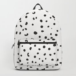 7-1011-0-P1, Black rounded shapes and dots, big size, Backpack