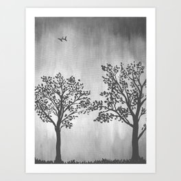 Grey Silhouette Art Print