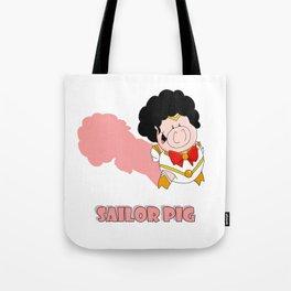 Sailor Pig Tote Bag