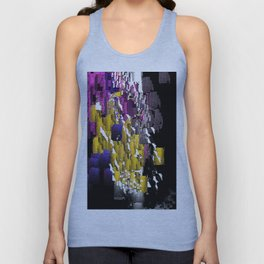 Decorative Abstract in Purple, Blue, Black, Yellow, and White Unisex Tank Top