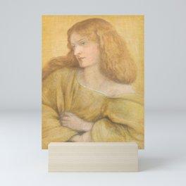 Dante Gabriel Rossetti Woman in Yellow 1863 Mini Art Print