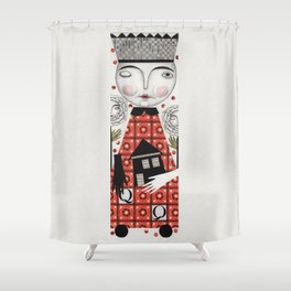 The White Queen Shower Curtain