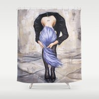 returns Shower Curtains featuring Saturn Returns by Artist Andrea