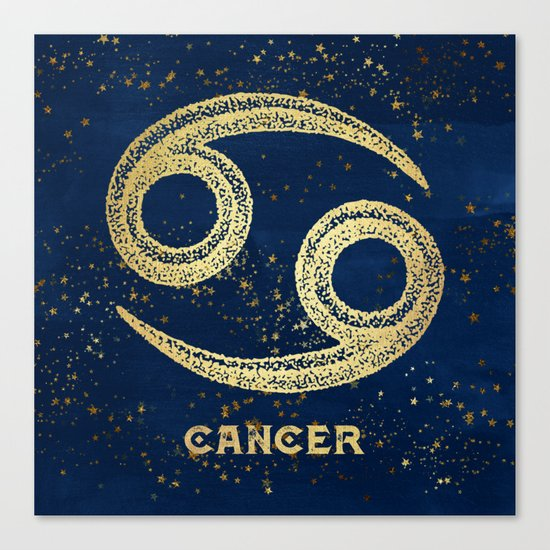 Cancer Zodiac Sign Canvas Print