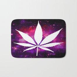Weed : High Times Fuchsia Pink Purple Galaxy Bath Mat