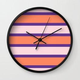Multi Color Striped Color Block Wall Clock