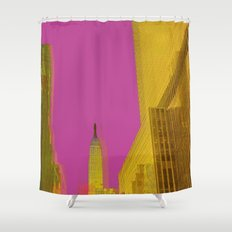 PINK NYC Shower Curtain