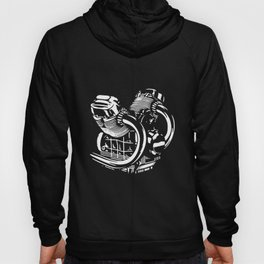 Cool Mens Engine Motorcycle Round Neck Cotton Black engineer police Hoody
