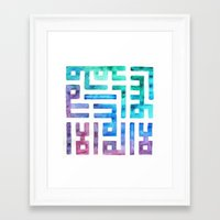 calligraphy Framed Art Prints featuring RAINBOW CALLIGRAPHY by NomadicSoulCreations