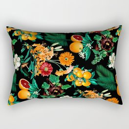 Fruit and Floral Pattern Rectangular Pillow