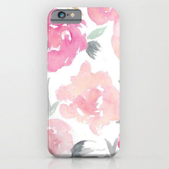 Muted Floral Watercolor Design  iPhone & iPod Case