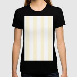 Vertical Stripes - White and Cornsilk Yellow T-shirt