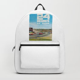 1965 Le Mans poster, Race poster, car poster, garage poster Backpack