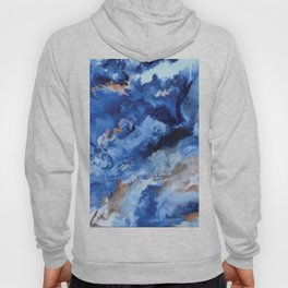 Depths of the Sea - Mixed Media Painting Hoody
