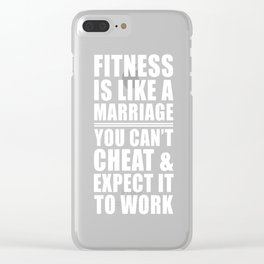 Fitness is Like Marriage Funny T-shirt Clear iPhone Case
