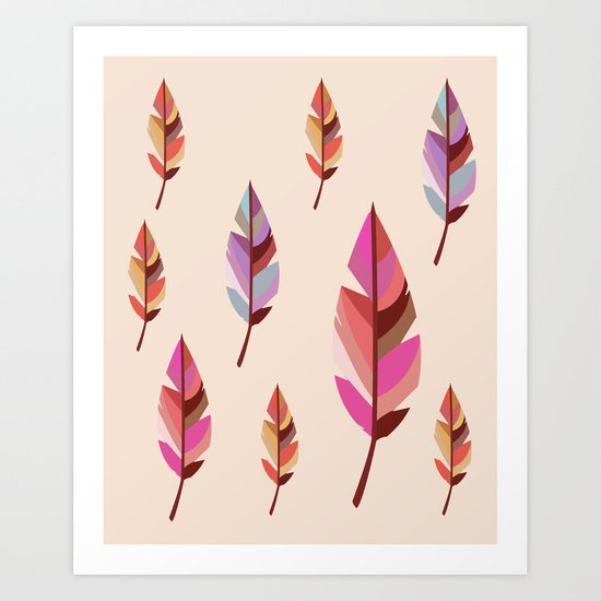 Feathers2 #society6 Art Print