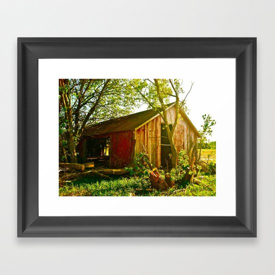 Look into the Past Framed Art Print
