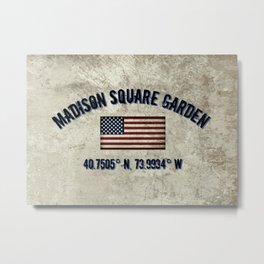 Madison Square Garden, Longitude and Latitude Coordinates Metal Print