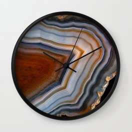 Layered agate geode 3163 Wall Clock
