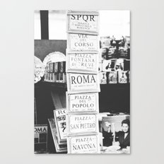 Art tiles in Rome Canvas Print