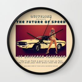 '77 Quiverer Fastback Wall Clock