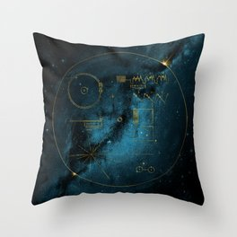 Voyager and the Golden Record - Space | Science | Sagan Throw Pillow