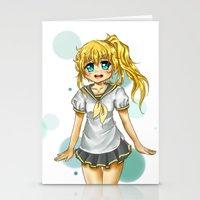 vocaloid Stationery Cards featuring Lenka (fanart) by jannaj