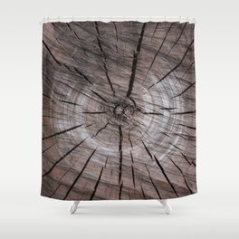 Close up of an Apple Tree Log Shower Curtain