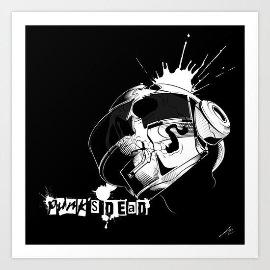 Punk's Dead Art Print