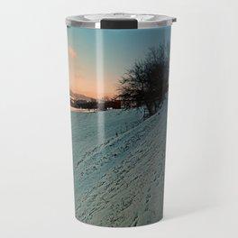 Hiking through winter wonderland | landscape photography Travel Mug