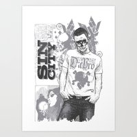 sin city Art Prints featuring Sin city by Tshirt-Factory